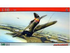The Eduard Polikarpov I-16 Type 10 Model Kit in 1/48 scale from the plastic aircraft model kits range accurately recreates the real life Soviet fighter aircraft flown during World War II.  This Eduard aircraft model requires paint and glue to complete.