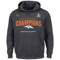 Majestic Denver Broncos Dark Gray Super Bowl 50 Champions Big   Tall Trophy  Collection Locker Room Hoodie is available now at FansEdge. 01bd03359