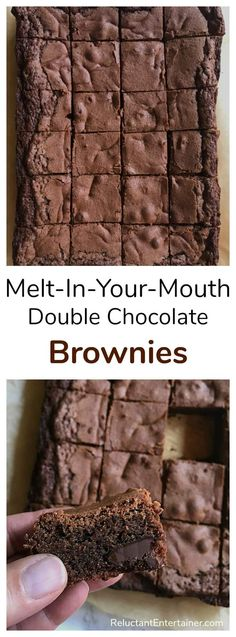 Melt-In-Your-Mouth Double Chocolate Brownies