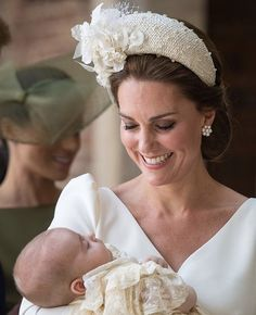 All Prince Louis Christening Photos With Kate Middleton, Prince William and Royal Family Moda Kate Middleton, Style Kate Middleton, Kate Middleton Photos, Kate Middleton Outfits, Lady Diana, Princesa Charlotte, Duke And Duchess, Duchess Of Cambridge, Royal Fashion