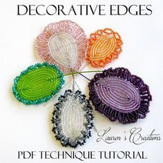 French beading - decorative edges Technique Tutorials Home Page