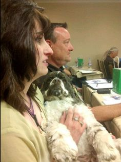 Carol and Dexter at Kenn Bell's Video Session at BlogPaws 2012.