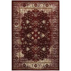 Area Rugs Empire Red Ivory Oriental Traditional Rug