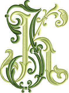 Embroidery Monogram Fonts, Embroidery Alphabet, Embroidery Applique, Embroidery Designs, Letter Art Design, Monogram Design, Monogram Letters, Free Monogram, Monogram Tattoo