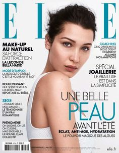 bel-hadid: Bella Hadid on the cover of Elle France May 2017