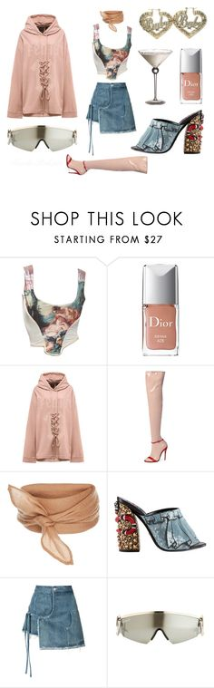 """""""Don't You See Riri Right Next To Me?"""" by nicolebokser ❤ liked on Polyvore featuring Vivienne Westwood, Christian Dior, Gucci, Retrò, Sandy Liang and vintage"""