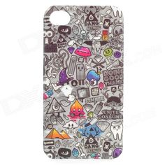 Color: Grey + Black; Brand: N/A; Model: N/A; Quantity: 1 Piece; Material: PVC; Shade Of Color: Gray; Compatible Models: IPHONE 4,IPHONE 4S; Design: Mixed Color,Graphic; Style: Back Cases; Packing List: 1 x Case; http://j.mp/1uOwHkS