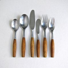 Dansk Fjord Flatware Service for 6 Teak Wood Handle Made in Germany 1960s Mid Century Modern on Etsy, $1,500.00