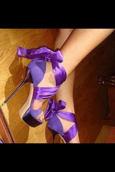 Purple shoes in love with this