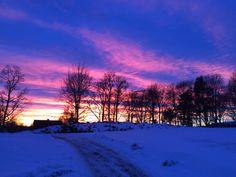 Winter sunset, Rakkestad, Norway. Photo: Malin Charlotte Sammerud