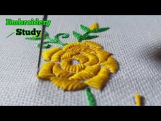 Hand Embroidery Beautifull flower Tutorial | Embroidery Study - YouTube