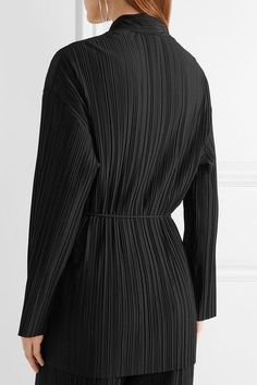 The Row - Kim Plissé Stretch-jersey Cardigan - Black - x small