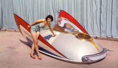 The #XPAK400 was the first Air Car to run a sparkling #Metalflake Paint Job. Built by #Barris, the futuristic creation made it's debut at the 1959 New York World's Fair featuring 35 coats of #Metalflake paint by the Bobeckmun Company, a Division of the Dow Chemical Company. The particles were precision cut, coated aluminum foil that gave a metallic finish, and it was supposedly the first time the product was available for commercial use. A trial was offered to #GeorgeBarris for the XPAK 400…