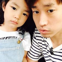 Lee Haru and her dad Tablo always make me smile when I'm feeling down. Love the show Return of Superman!