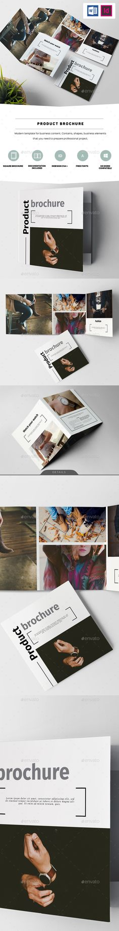Product Brochure — InDesign INDD #clean #flexible • Download ➝ https://graphicriver.net/item/product-brochure/19440016?ref=pxcr