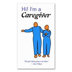 Caregiver Business Card template