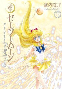 3rd Gen Japanese Sailor Moon manga volume 5 featuring Sailor Venus on the cover! Buy here http://www.moonkitty.net/reviews-buy-sailor-moon-third-gen-kanzenban-manga.php #SailorMoon