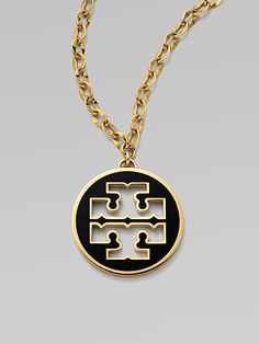 Love this! Will definitely be my next purchase! Tory Burch Logo Pendant Necklace