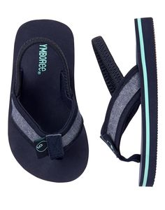 Accessories Gym Navy Beach Flip Flops by Gymboree. Manmade materials, Easy slip-on style, Elastic strap, Textured sole, Spot clean; imported and Collection Name: Swim Shop Baby Outfits Newborn, Baby Boy Outfits, Swag Babe, Flip Flop Images, Toddler Boys, Baby Kids, Urban Swag, Beach Flip Flops, Kids Zone