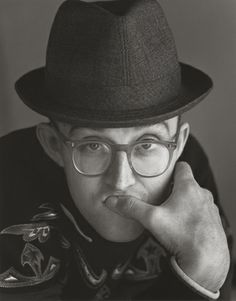 Keith Haring (1958-1990) - American artist and social activist whose work responded to the New York City street culture of the 1980s. Photo by Herb Ritts.