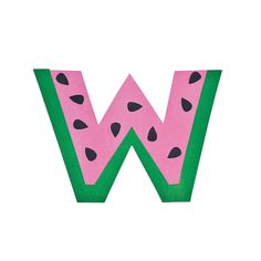 W Is For Watermelon Letter W Craft Kit - OrientalTrading.com