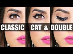 3 Easy Eyeliner Looks - YouTube..if you can get past the lip color, these are actually pretty good tutorials