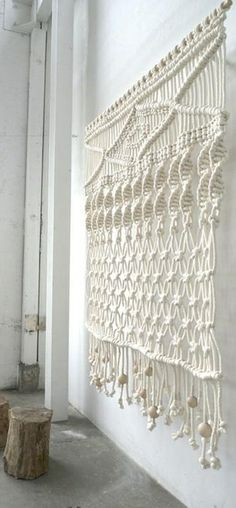 macrame curtain - 70's influence