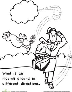 Worksheets: Color and Learn: Wind