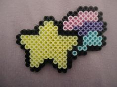 Mini Pastel Shooting Star by PerlerHime