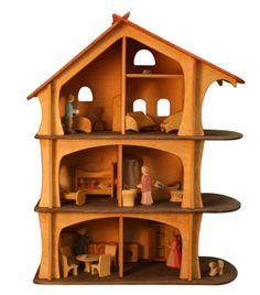 Goldrabe - Puppenhaus Pupenstube von Holzkram Holzspielzeug