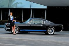 1965 Ford Mustang Fastback - Spicehecker 501 Base Black with Rally Blue Ford Mustang Fastback, Classic Mustang, Rally, Dream Cars, Melbourne, Base, American, Wheels, Muscle