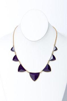 Midnight Purple Point Necklace