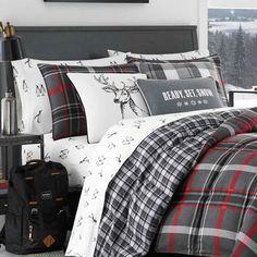 Eddie Bauer Willow Plaid Reversible Comforter Set & Reviews   Wayfair Plaid Comforter, Twin Comforter Sets, King Comforter, Winter Bedroom, Bedroom Red, Home Decor Bedding, Bedding Shop, Eddie Bauer, Console