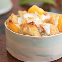 Mango Bread Pudding Recipe | Epicurious.com this is divine!!! I used Pepperidge Farm cinnamon raisin bread, used coconut milk instead of heavy cream and skim milk instead of whole milk. Omitted the ginger and used a  touch of Vietnamese cinnamon which  was the crowing glory!