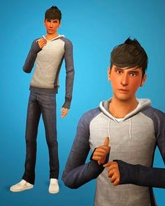 My Sims 3 Blog: Hoodie for Adult Males by Shokoninio