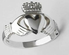 An engaged or married woman or man would wear the Claddagh ring with the tips of the crown facing towards their fingertips. This symbolizes that the heart of the person wearing the ring is taken.