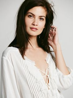 Free People FP ONE Ruffle Me Up Blouse, $49.95