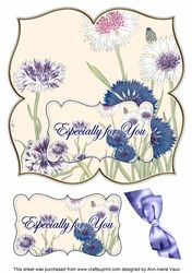 Cornflowers Especially for You 8in Large Blooms Fancy Topper on Craftsuprint - View Now!