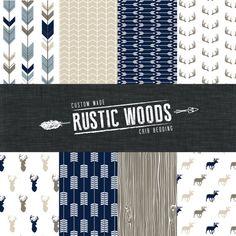 Les bois rustiques lit ensemble de literie - marine/bleu/kaki/brun    Dans la liste déroulante, sélectionnez loption set de votre literie.    Message