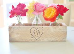 Personalized Planter Box Rustic Chic Home Decor Shabby Chic Living In The Country (Item Number 140321) NEW ITEM