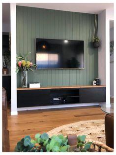Living Tv, New Living Room, Living Room Modern, Home And Living, Living Room Decor, Dining Room Feature Wall, Fireplace Feature Wall, Feature Wall Bedroom, Living Room Panelling