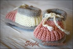 Knitting Pattern PDF  Baby Boy Booties  Pattern  by Childhaps, $1.99