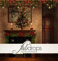 Christmas Photography Backdrop  Photo Background Is by FabDrops