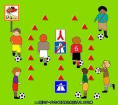 Dribbling - Highway - Kids Soccer - Soccer drills for kids from to - Soccer coaching with fantasy Soccer Drills For Kids, Soccer Practice, Soccer Skills, Soccer Tips, Kids Soccer, Soccer Games, Soccer Ball, Soccer Party, Soccer Snacks