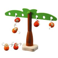 Amazon.com: Plan Toy Balancing Monkeys: lily and laura: Toys & Games