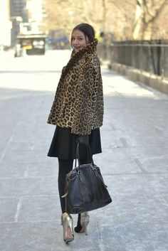 Vintage fur perfection from Caroline in the City.