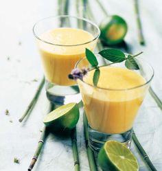 Cocktail sans alcool mangue coco citron vert