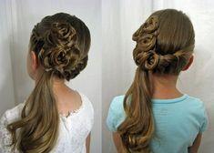 Si tienes una hija o si en tu familia hay una pequeña, tómala como conejillo de indias y comienza a experimentar con su cabello haciendo estos impresionantes peinados, que aunque se ven muy elaborados, es sólo cuestión de práctica para lograr hacerlos de manera perfecta. Si los haces bien lograrás que se vea tan hermosa … Flower Girl Hairstyles, Little Girl Hairstyles, Dream Wedding, Wedding Day, Tips Belleza, Stylish Hair, Hair Dos, Wedding Makeup, Braids
