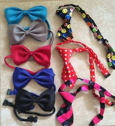 Adjustable Bow Tie or Necktie For Dog, Puppy or Cat - Choose Color - US Seller
