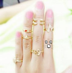 Super Cute Stackable Golden Fashion Ring